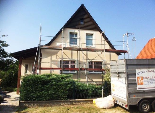 Fassadenmalerei - Berlin - Kwast - Stuckfassade Einfamilienhaus