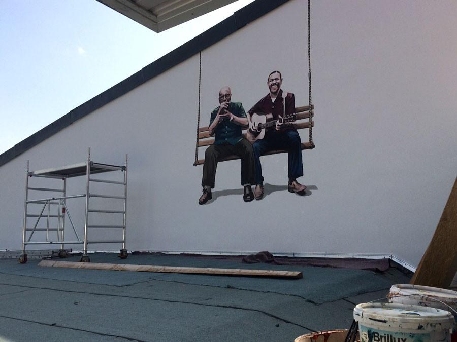 Auftragsmalerei Kwast Berlin,Wandmalerei, Blues-Musiker