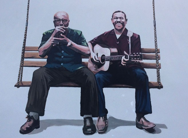 Auftragsmalerei Kwast Berlin,Wandmalerei, Blues-Musiker, Startseite