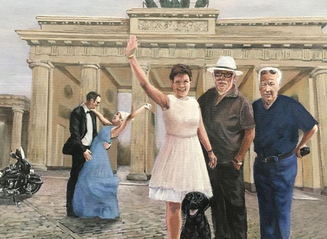 Auftragsmalerei Kwast Berlin, Portrait painting, Family picture