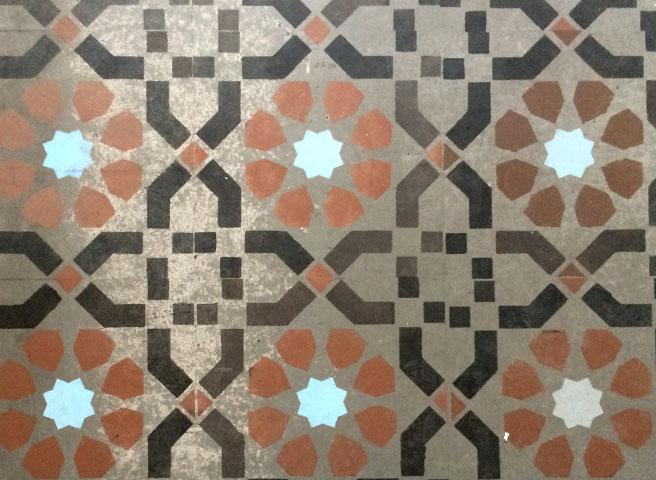 Auftragsmalerei Kwast Berlin, Imitation, Tiled floor - Morocco Mosaic, Start