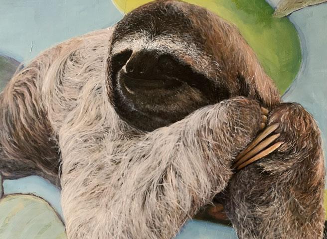 Auftragsmalerei Kwast Berlin, Panel painting, Sloth, Startseite