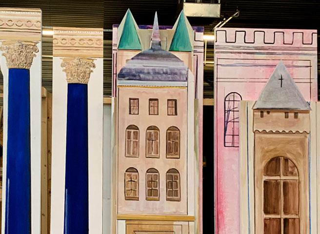 Auftragsmalerei Kwast Berlin, Theatre painting, Parchim Theatre, Startseite