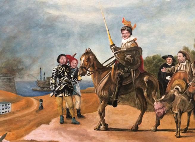 Auftragsmalerei Kwast Berlin, Porträtmalerei, Tafelbild Don Quichotte