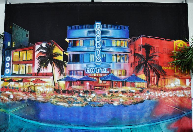Kwast - Auftragsmalerei - Party Miami