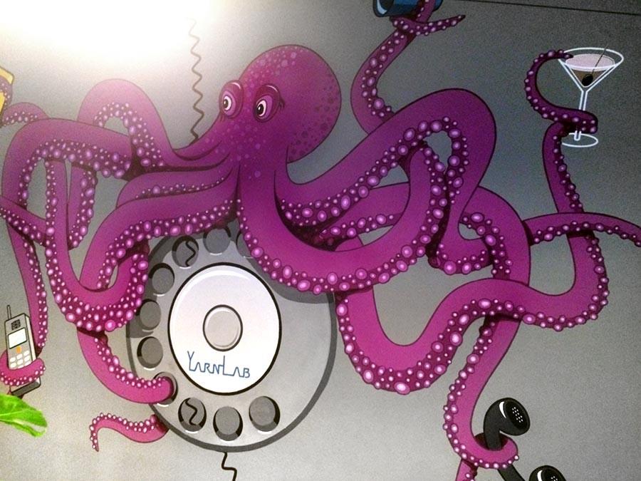 Auftragsmalerei Kwast Berlin, Wandmalerei, Oktopus