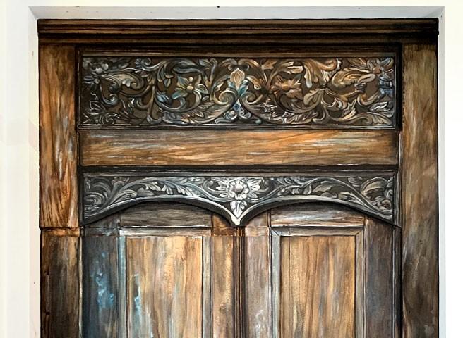 Auftragsmalerei Kwast Berlin, Imitationsmalerei, folkloristische Türen