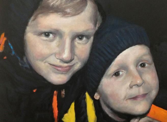 Kwast - Porträtmalerei - Doppelporträt Brüder