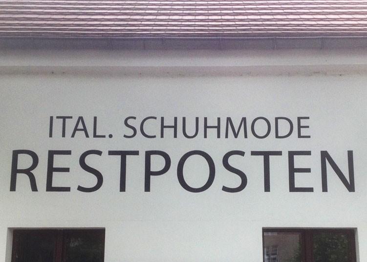 Kwast Fassadenmalerei - Italienische Schuhmode, Berlin-Zehlendorf