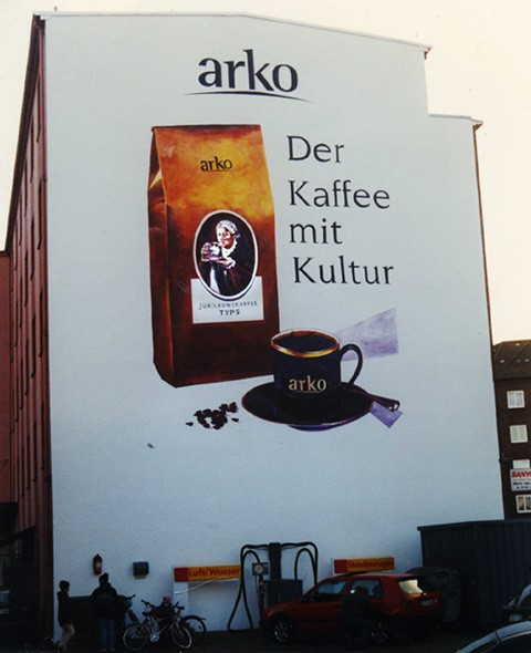 Kwast - Fassadenmalerei - Arko-Kaffee