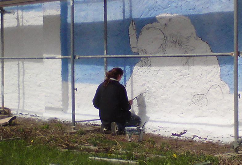 Kwast - Fassadenmalerei - Die kleine Seenadel