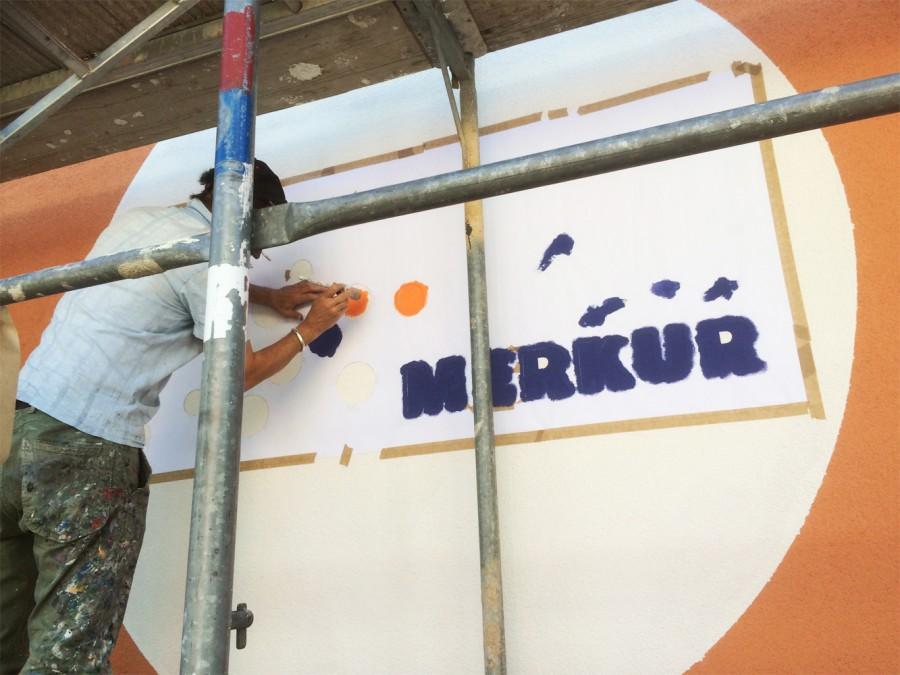 Fassadenmalerei-Merkur