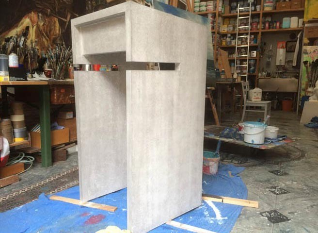 Imitationsmalerei - Berlin - Kwast - Betonpult Büro Wim Wenders