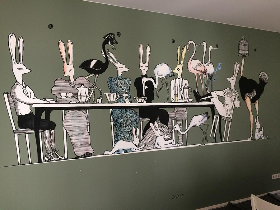 Wandmalerei - Berlin - Kwast - Hostel in Berlin