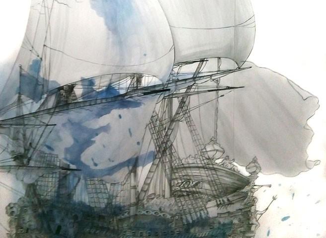 Auftragsmalerei Kwast Berlin, Malerei für Museen - Architectura Navalis