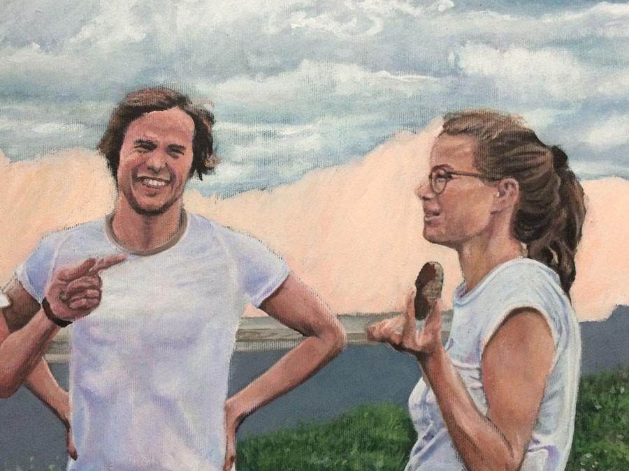 Auftragsmalerei Kwast Berlin, Portraitmalerei - Familien-Gruppenbild