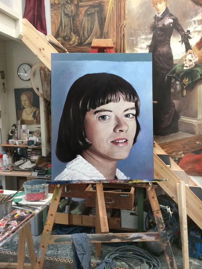 Auftragsmalerei Kwast Berlin, Portraitmalerei - Hochzeitstag