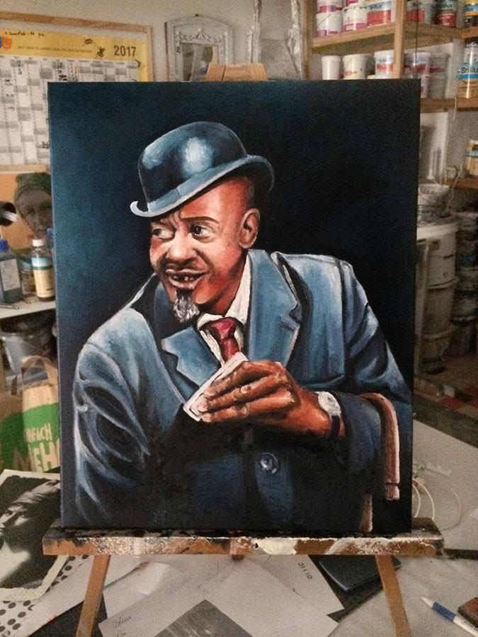 Auftragsmalerei Kwast Berlin,Porträtmalerei - Sonny Boy Williamson