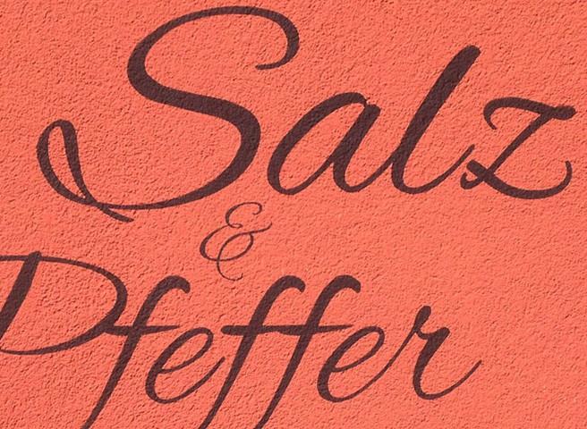 Kwast - Fassadenbeschriftung - Fassadenmalerei - Restaurant Salz und Pfeffer