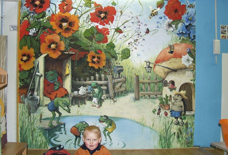 Wandmalerei in kindergarten auftragsmalerei kwast berlin - Wandmalerei berlin ...