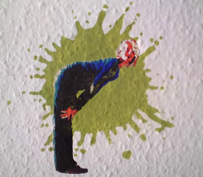 Wandmalerei mit schablone auftragsmalerei kwast berlin - Schablone wandmalerei ...