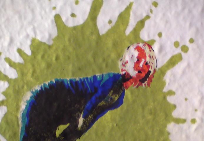 Wandmalerei mit schablone auftragsmalerei kwast berlin - Wandmalerei berlin ...